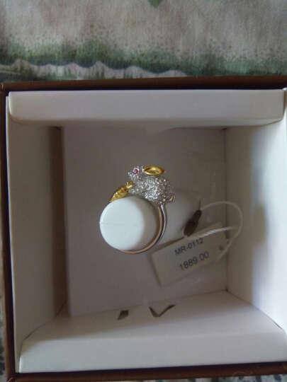 MyMiss 十二生肖戒指 女食指开口 925银镀铂金指环 情人节礼物 情侣送礼 银饰品 生日礼物 兔 晒单图