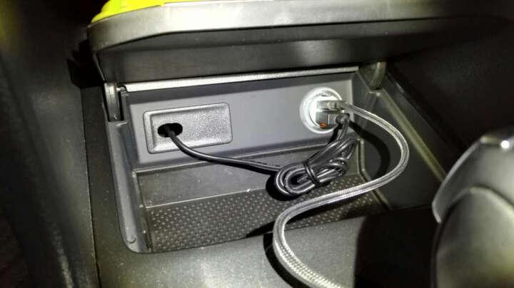 JDB双口一拖二点烟器手机车载充电器迷你快充车充 象牙白+type-c二合一快充线 晒单图