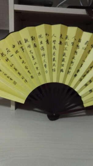 吉迅 男款扇子双面绫绢扇 头青竹工艺扇 礼品扇 特色中国风折扇礼品 10寸黄洛阳牡丹 晒单图