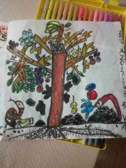 晨光水溶性炫彩棒12/24/36色旋转彩绘棒幼儿园儿童美术小狐希里蜡笔彩笔可水洗油画棒盒装绘画笔 48色送笔刷黄盒款 晒单图