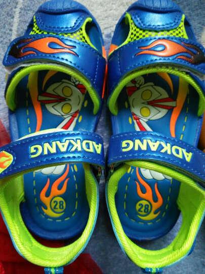 奥特曼超人带闪灯包头男童凉鞋沙滩鞋夏季儿童鞋宝宝童鞋新款 宝蓝色 28 晒单图