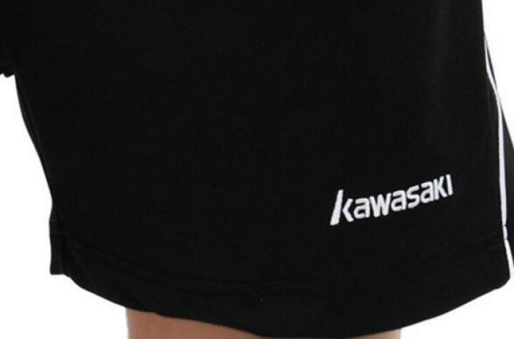 KAWASAKI川崎羽毛球服运动短裤男女款 YMB-181短裤黑色 2XL 晒单图