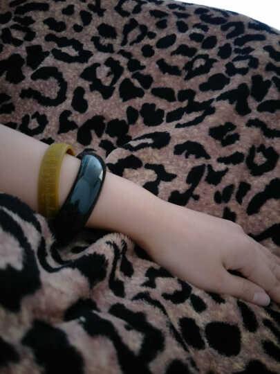 Hilarious珠宝和田玉手镯玉镯女墨玉黑青玉玉镯子 56mm 晒单图