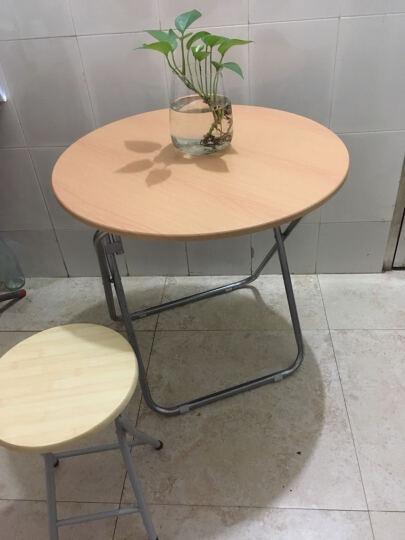 华恺之星 折叠桌子 简约餐桌饭桌电脑桌休闲边桌 圆桌70cm整装 晒单图