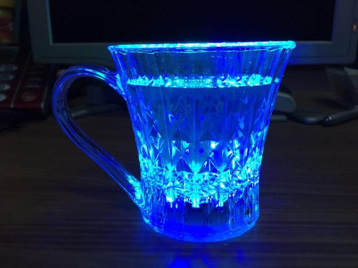 热销发光水杯酒杯 手柄钻石杯倒水就亮 感应冷光水杯 七彩发光杯 LED闪光杯 夜光酒杯 晒单图