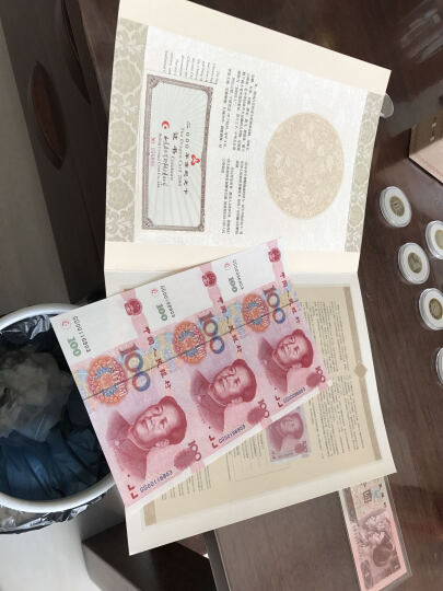中邮典藏 2000年千禧年世纪龙卡三连体  99100三连体 连体钞  邮币 世纪龙卡99100三连体 带四 晒单图