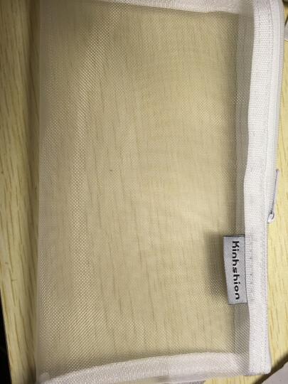 蒂发 考试专用笔袋 纯色透明尼龙网格 学生中考高考文具收纳笔袋 文具袋 深棕色 晒单图