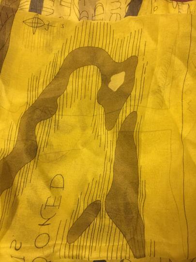 织锦楼丝巾女高档真丝围巾 桑蚕丝真丝丝巾长丝巾春季新款 黄金海岸 晒单图