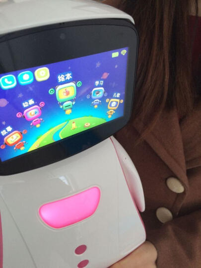 儿童智能陪伴机器人 孩童互动早教机小孩故事机婴儿幼童学习机益智玩具男女3-5 6岁 玫瑰粉色 晒单图