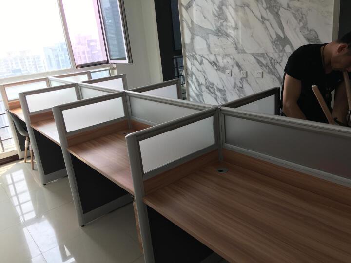 金泰国林  办公家具职员办公桌椅 屏风电脑桌椅组合工作位屏风卡座办公桌 工型二人位不带柜 晒单图