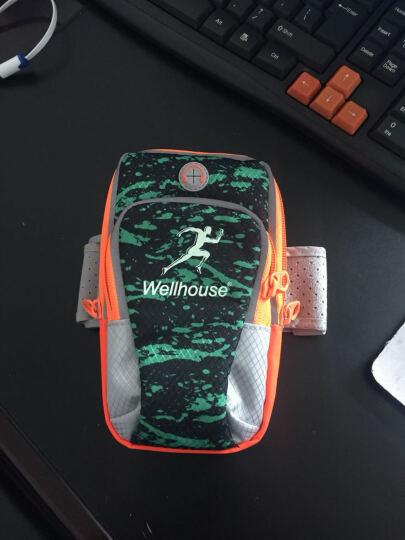 卡罗家炫酷运动手机手臂包 手机绑带包 跑步包 钥匙手机包 夜光 喷彩蓝绿 L码适合机型见详情 晒单图