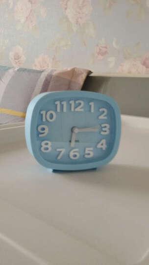 汉时钟表 电子闹钟 学生床头钟卡通桌钟创意儿童小台钟静音懒人闹表石英钟HA07 蓝色4寸 晒单图