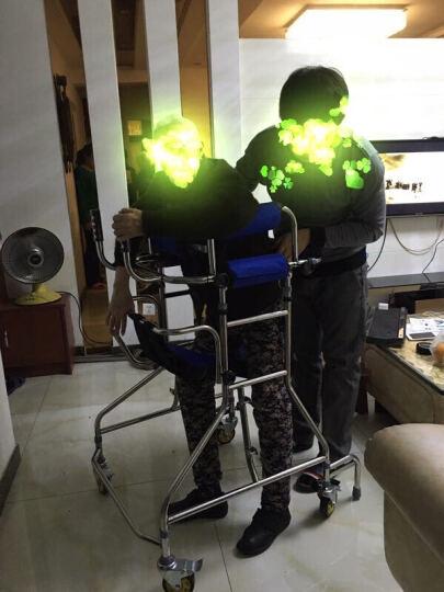 惠扬(Hui Yang) 老人学步车助行器成人站立架中风偏瘫骨科康复训练器材学步器带轮四角拐杖凳 HY8705六轮学步车 晒单图