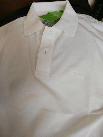 HUGO BOSS 雨果博斯 男士黑色混纺POLO衫 藏蓝色50326299 410 L 晒单图