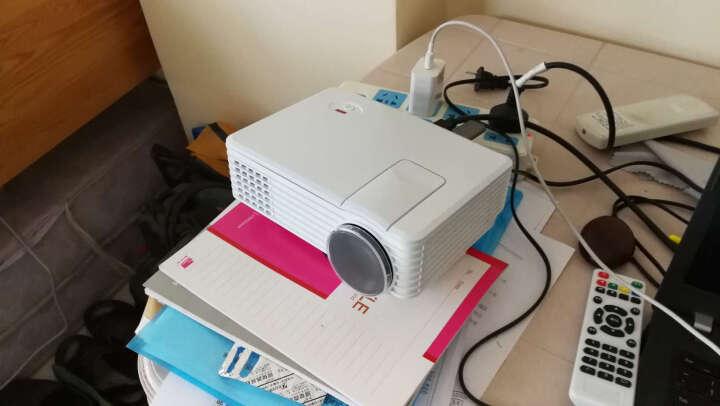 瑞格尔 微型投影仪 家用迷你便携式投影机 高清支持1080P 套餐一  高清标配(无wifi功能) 晒单图