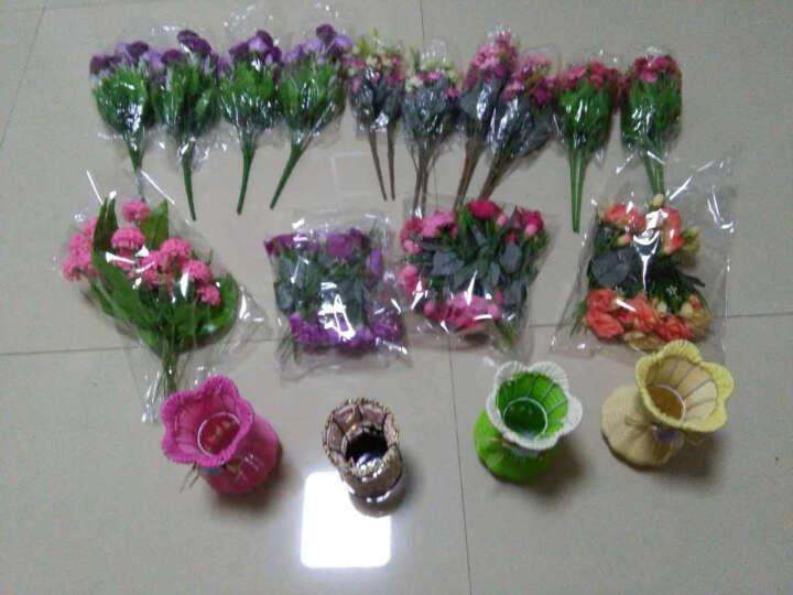 福嘉福  唯美韩国玫瑰仿真花套装客厅欧式玫瑰装饰花绢花艺假花盆栽 红色跳兰菊 晒单图