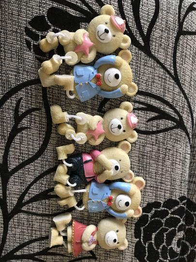 两件包邮-颐然(YIRA) 创意包邮韩国卡通树脂儿童可爱小熊磁铁立体贴磁铁吊脚娃娃冰箱贴 西服熊(灰色) 高9CM*宽4.5CM 晒单图