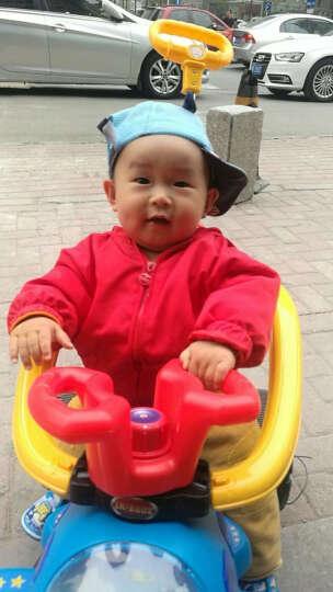 LEKANG 乐康儿童电动车三轮摩托车男女宝宝小汽车婴幼儿玩具四轮手推车小孩可坐人充电童车 精灵蓝(升级大电瓶) 晒单图