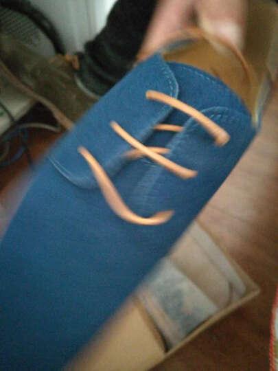 夏秋新款男士板鞋透气大码休闲磨砂潮鞋英伦反绒皮牛津底潮流单鞋休闲鞋 驼色 43 晒单图
