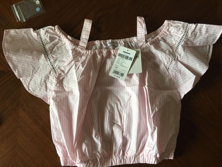 巴拉巴拉童装女童短袖衬衫中大童小童上衣2017夏季新款儿童衬衣女 白色调 120 晒单图
