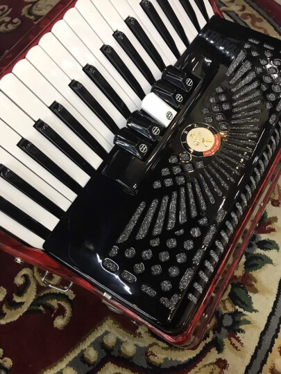 李斯特(LISZT) 德国60贝司斯手风琴三排簧键盘进口簧片成人儿童初学入门 黑色+配件大礼包 晒单图