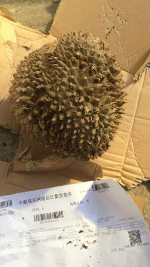 中粮我买网 急冻树熟金枕榴莲 2.5-3kg 水果 晒单图