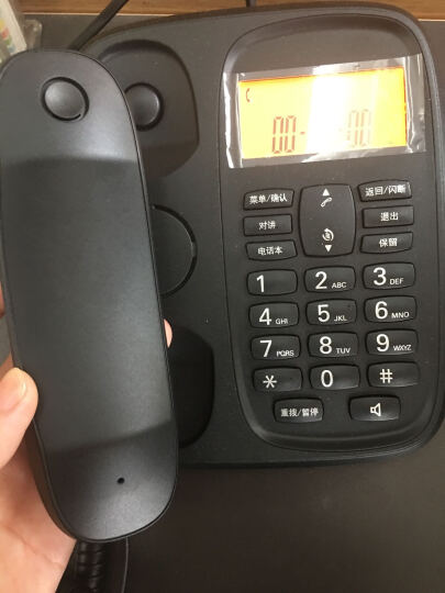 摩托罗拉(Motorola)CL103C数字无绳电话机座机子母机中文显示免提套装办公家用一拖三固定无线座机(黑色) 晒单图