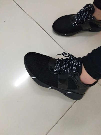 百年纪念凉鞋女2018夏季新款韩版性感露趾中跟高跟鞋时尚方头色拼接一字扣带女鞋休闲女鞋子 米色 37 晒单图