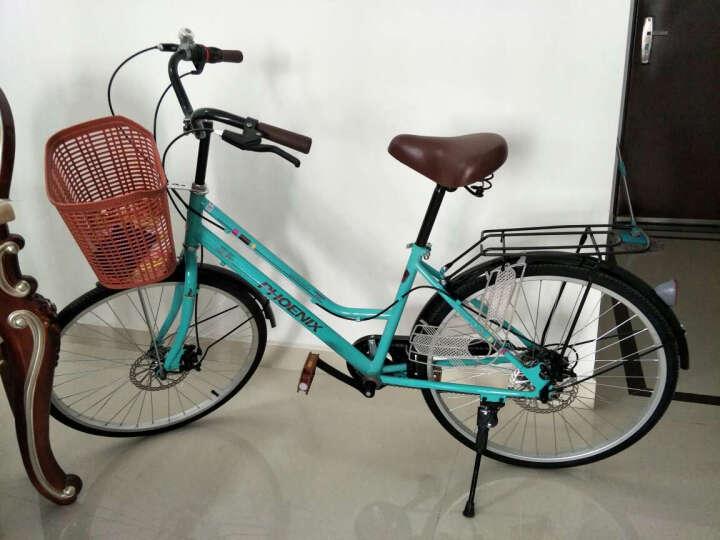 凤凰(Phoenix) 凤凰通勤自行车女式24寸学生男女复古公主淑女单速/变速城市自行车 单速 米黄 晒单图