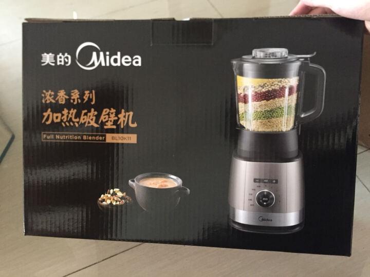 美的(Midea)破壁机智能高速加热破壁机 高硼硅玻璃杯 钛金破壁刀BL10K11 晒单图