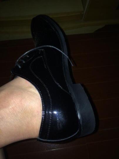 HENRYMAKER春夏男鞋休闲鞋男士英伦系带商务休闲皮鞋棉鞋正装鞋婚鞋鞋子男HM8015 棕色HM8015 42 晒单图