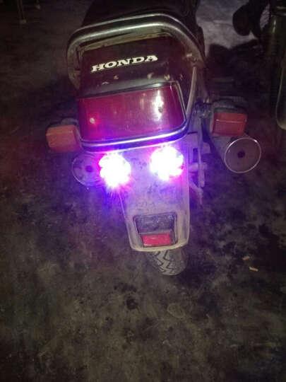 美蒂亚摩托车改装电动车助力车配件led风叶灯 汽车装饰灯 风车灯6CM摩托车通用爆闪刹车灯 6CM三彩带螺丝 一个装 晒单图