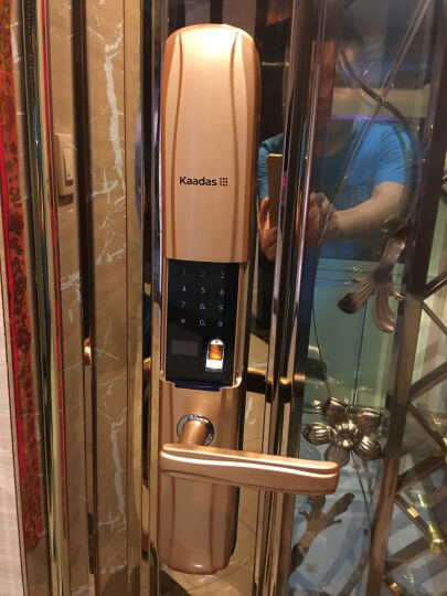 凯迪仕(KAADAS) 指纹锁 6017 智能锁密码锁 家用防盗门锁 电子密码锁 香槟金1PS 晒单图