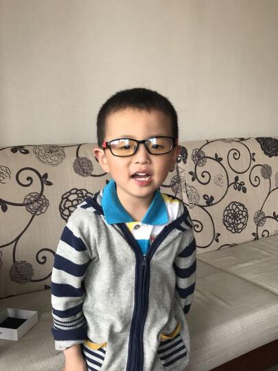 EFE儿童眼镜防蓝光辐射眼镜 手机电脑护目镜 预防近视眼镜适合3-8岁 C2-天蓝色 晒单图