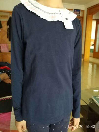 巴拉巴拉(BALABALA)童装女童套装中大童女孩儿童长袖两件套女28041170102桃红150 晒单图