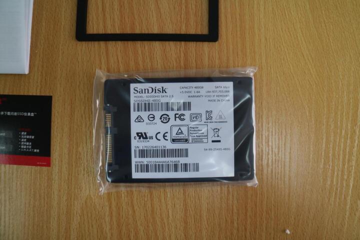 闪迪(SanDisk) 至尊高速版-II代 480G 固态硬盘 晒单图