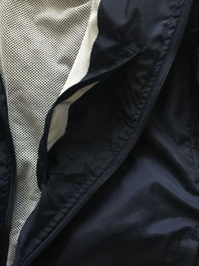 卡鲁森(clothin) 皮肤风衣 情侣户外运动双层皮肤衣轻薄透气徒步风衣 CD13006 女款紫色XL码 晒单图