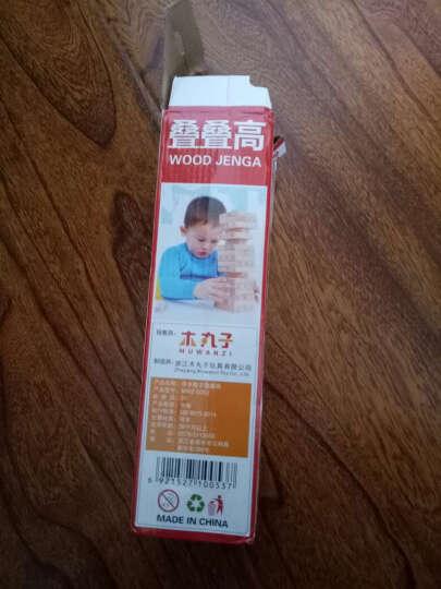 橡胶木木制质层层叠叠叠乐叠叠高 桌游儿童学生木质益智玩具数字印染积顶牛木玩具大号 晒单图
