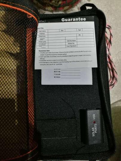 品晟太阳能充电器充电宝移动电源 7-28W 手机轻薄便携式折叠充电包户外 折叠板充电宝充电 4片高效 28W 黑色 晒单图