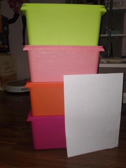 愉悦之家塑料收纳箱整理箱塑料带盖床底衣物收纳盒储物箱子 艾露莎 橙色 15L(长39宽28高14) 晒单图