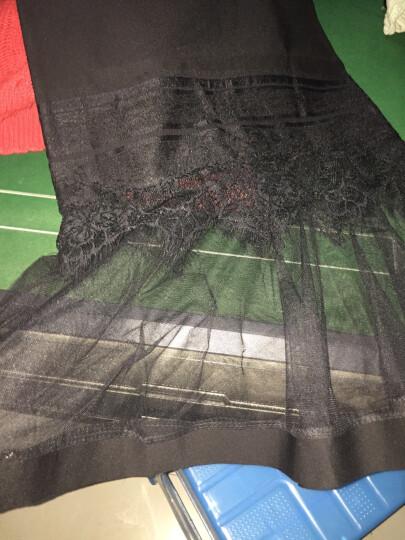 对兰  牛仔半身裙女2017夏季新款时尚女装高腰修身显瘦拼接中长款包臀裙半身裙 牛仔0821 M 晒单图
