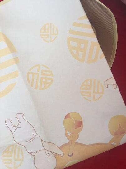 好奇鱼 婴儿凉席 新生儿冰丝凉席 婴儿床凉席 儿童幼儿园宝宝凉席枕头套装120x60cm 长命百岁2件套 晒单图