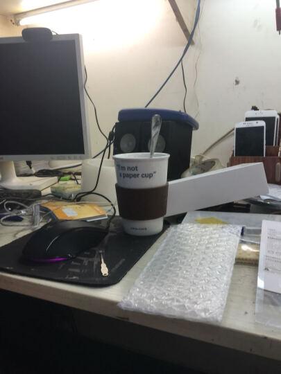 乐扣乐扣(LOCK&LOCK) 陶瓷杯 咖啡杯 水杯 茶杯 马克杯情侣杯带盖 370ml 咖啡色003B硅胶盖子 晒单图