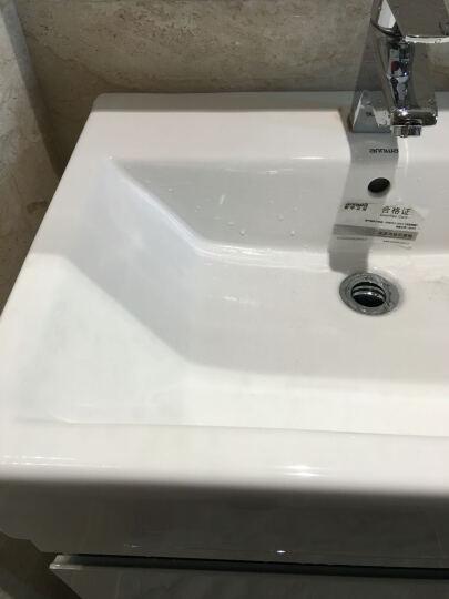 安华(ANNWA) 浴室柜吊柜组合套装(洗手洗脸盆anPG4365B单孔盆)/60cm/ 镜子款抽拉龙头97001068 晒单图