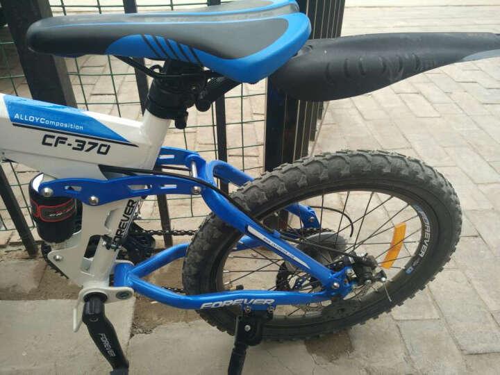 永久(FOREVER) 永久自行车20吋折叠山地自行车 儿童折叠自行车CF370 黑红色 晒单图