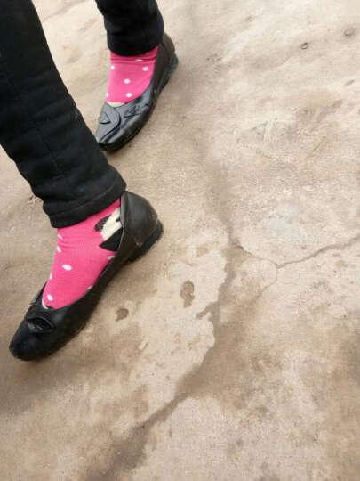玛思贝蜜妈妈鞋春季新品防滑浅口大码43真皮单鞋休闲套脚平底中老年女鞋透气 鱼嘴款米白色MW17222705 40 晒单图