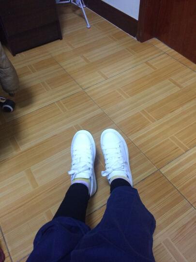 高蒂女鞋牛皮小白鞋女春季新款韩版ins超火的休闲鞋女圆头系带厚底松糕鞋女 黑色 38 晒单图