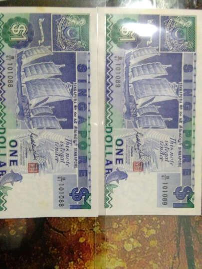 金永恒 外国钱币 亚洲全新新加坡1元帆船版钱币 1元 十张 晒单图