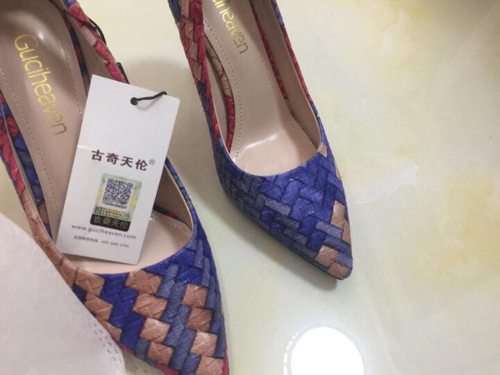 尖头浅口低帮鞋 蝴蝶结装饰高跟鞋 防水台女鞋子 34-40 米色 40 晒单图