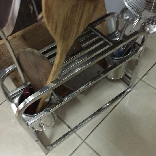 家佰利(jiabaili)不锈钢刀架刀座厨房置物架壁挂砧板收纳架筷子筒刀具架 晒单图